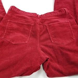 CHAPS Women's Size 14W Red Corduroy Stretch  Pants